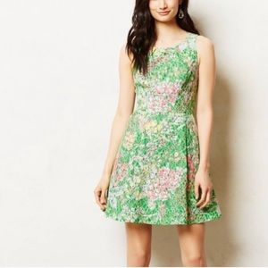 {Maeve} Anthro Lace Verbena Dress Spring Sequins